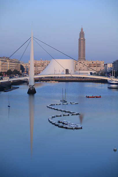 Dawn in Le Havre, France  le havre stock pictures, royalty-free photos & images