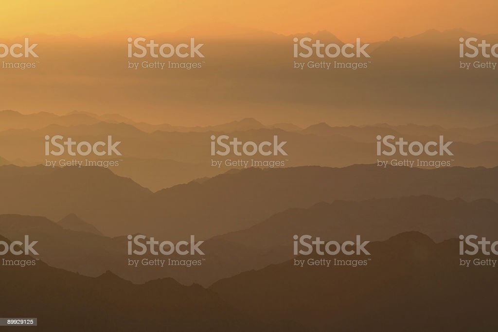 Dawn in mountains royalty-free stock photo