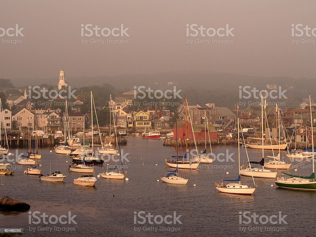 Dawn in Rockport MA royalty-free stock photo