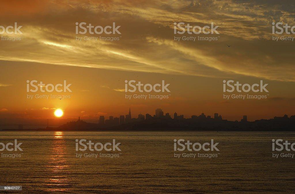 Dawn in San Francisco 1 royalty-free stock photo