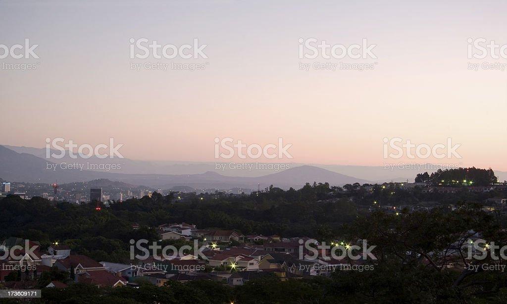 Dawn in San Salvador stock photo
