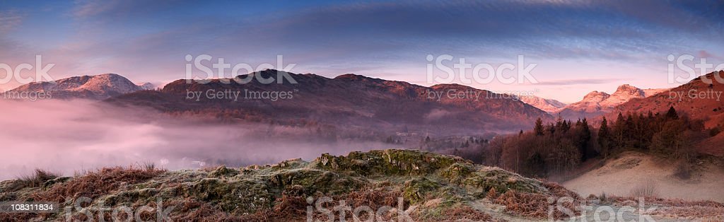 Dawn in the English Lake District stock photo