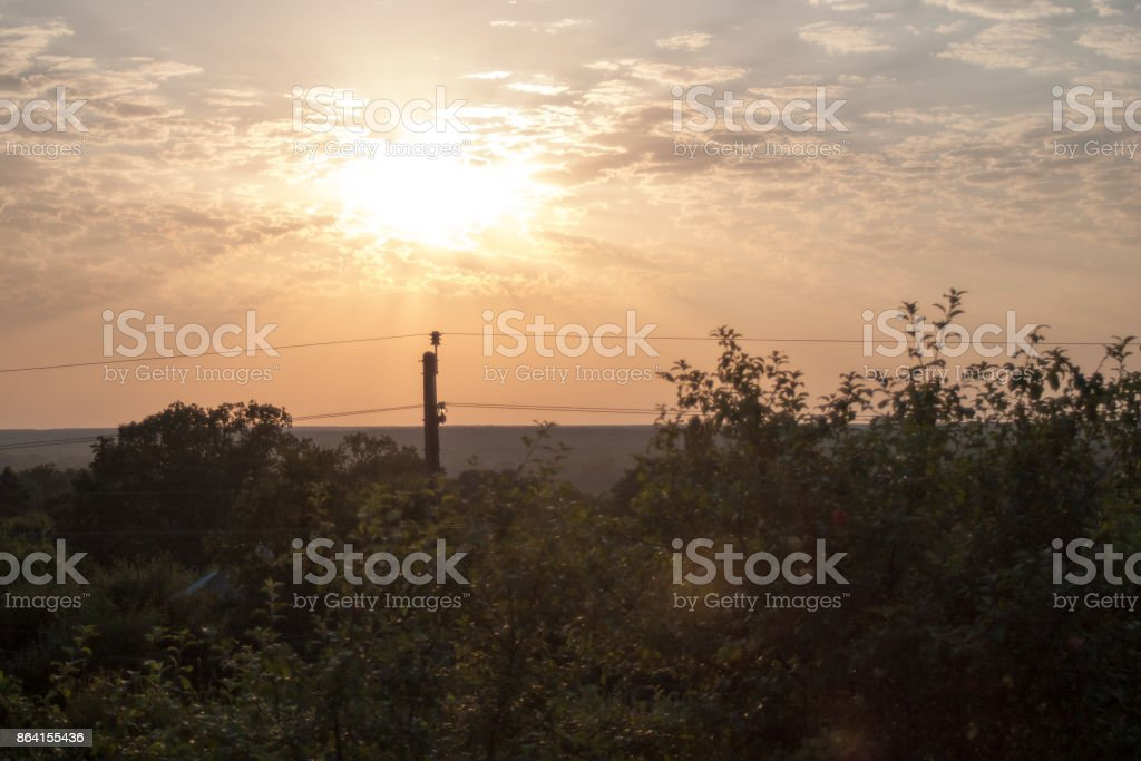 Dawn in the mountains of Abkhazia against the background royalty-free stock photo