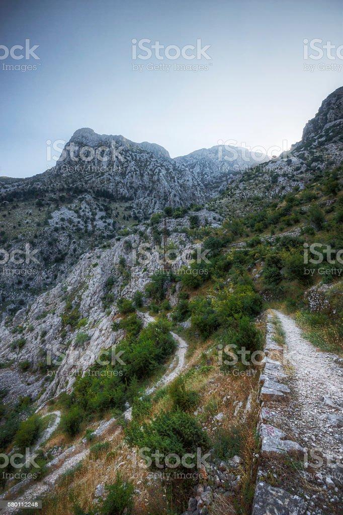 Dawn in the Mountains of Montenegro stock photo