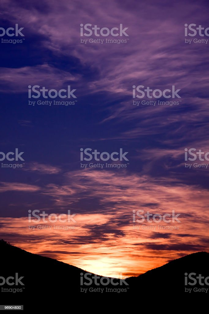 Dawn in the mountains royalty-free stock photo