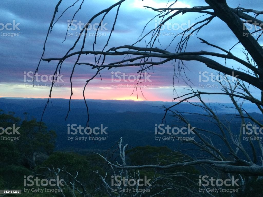 Dawn in the Victoria Alps royalty-free stock photo