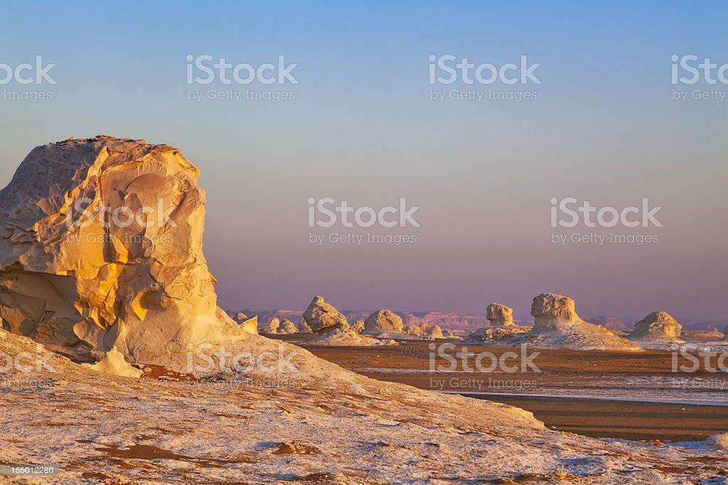 Dawn in the White Desert stock photo