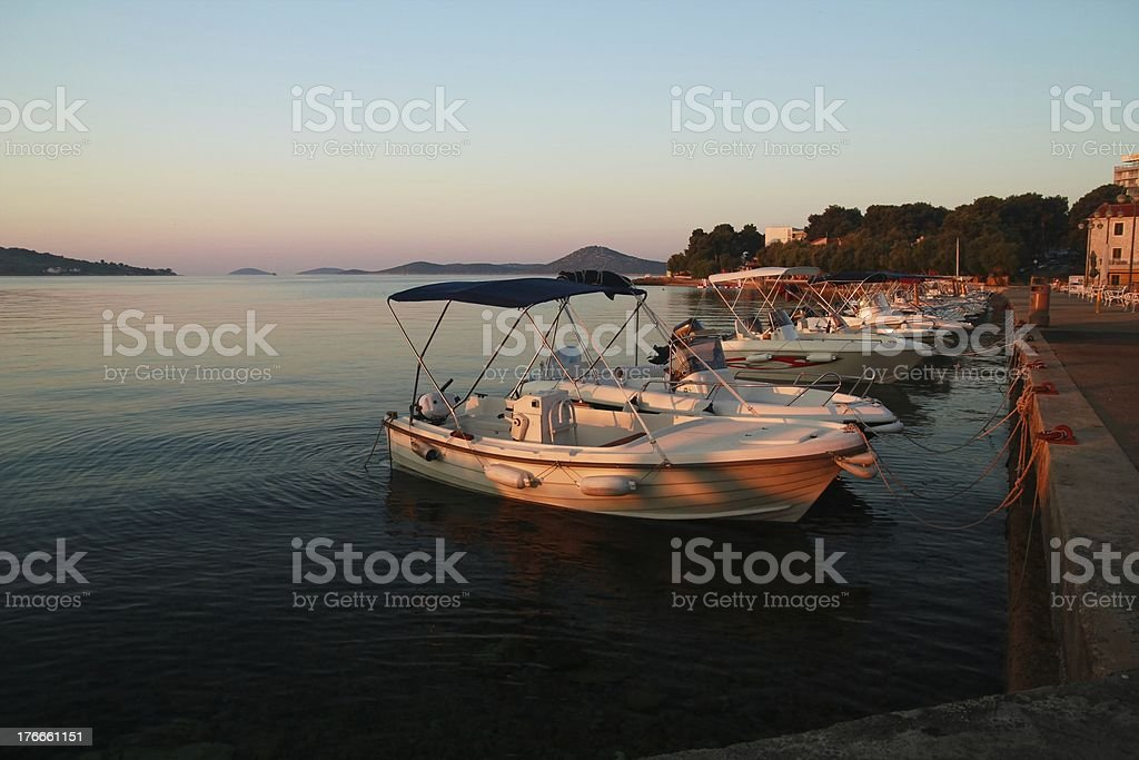 Dawn in Vodice royalty-free stock photo