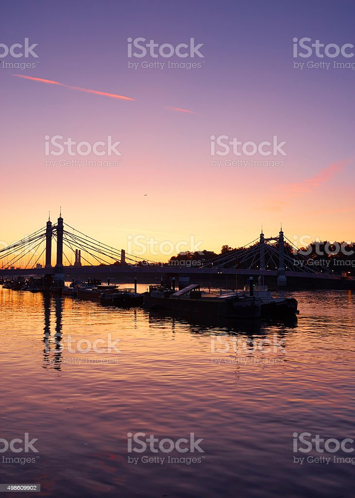 Dawn Light Over The Thames stock photo