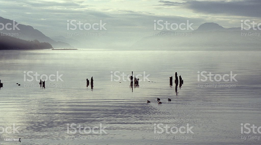 Dawn Loch Ness,Scotland royalty-free stock photo