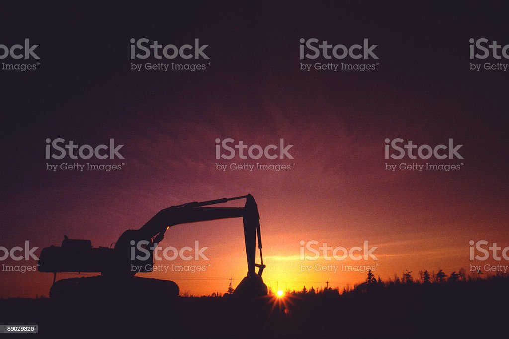 Dawn of Construction 2 royalty-free stock photo