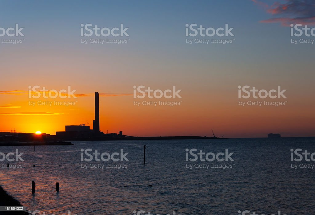 Dawn of industry stock photo