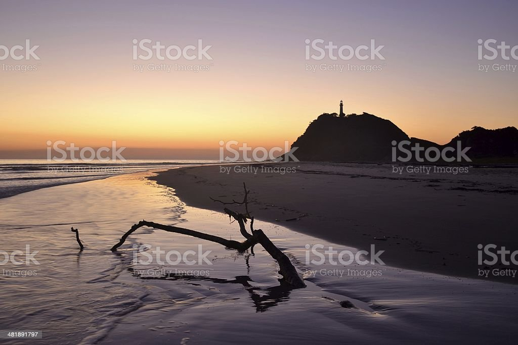 Amanhecer na Ilha do Mel foto royalty-free
