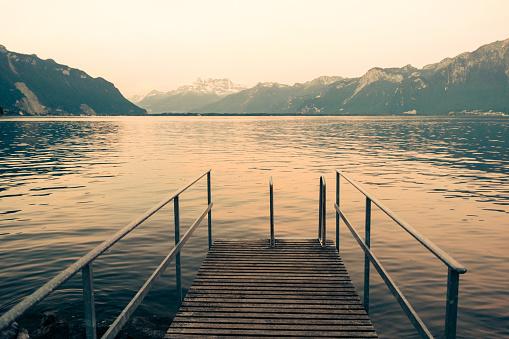 Dawn on Lake Geneva