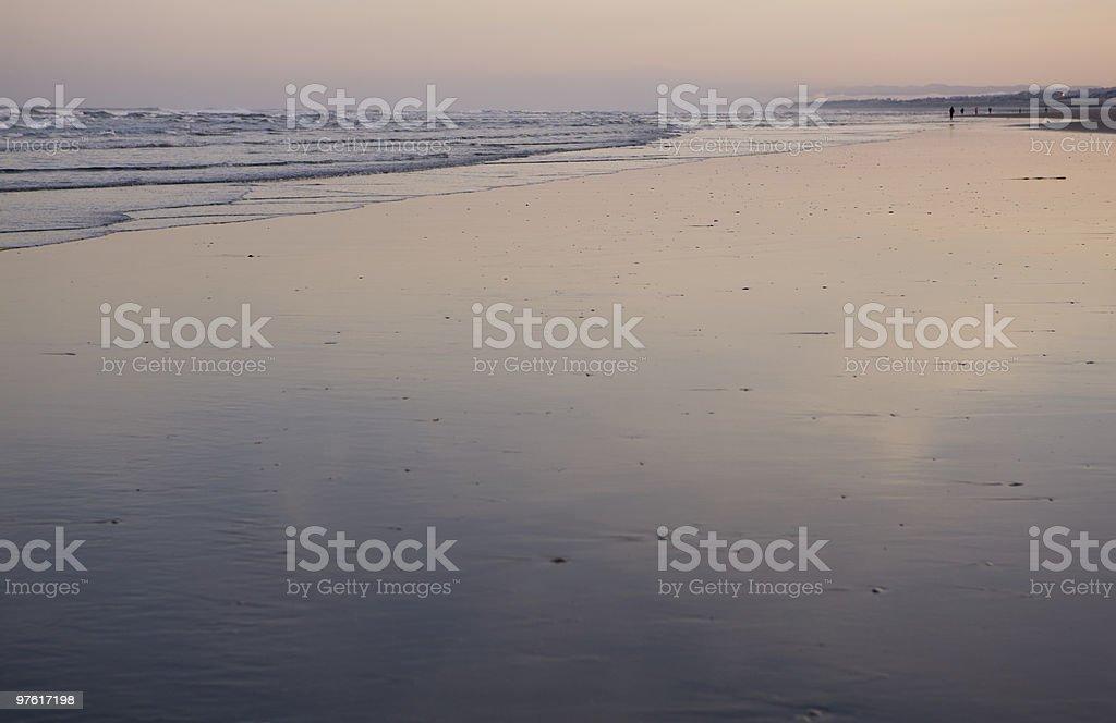 Dawn on the beach Seaside Oregon. royalty-free stock photo