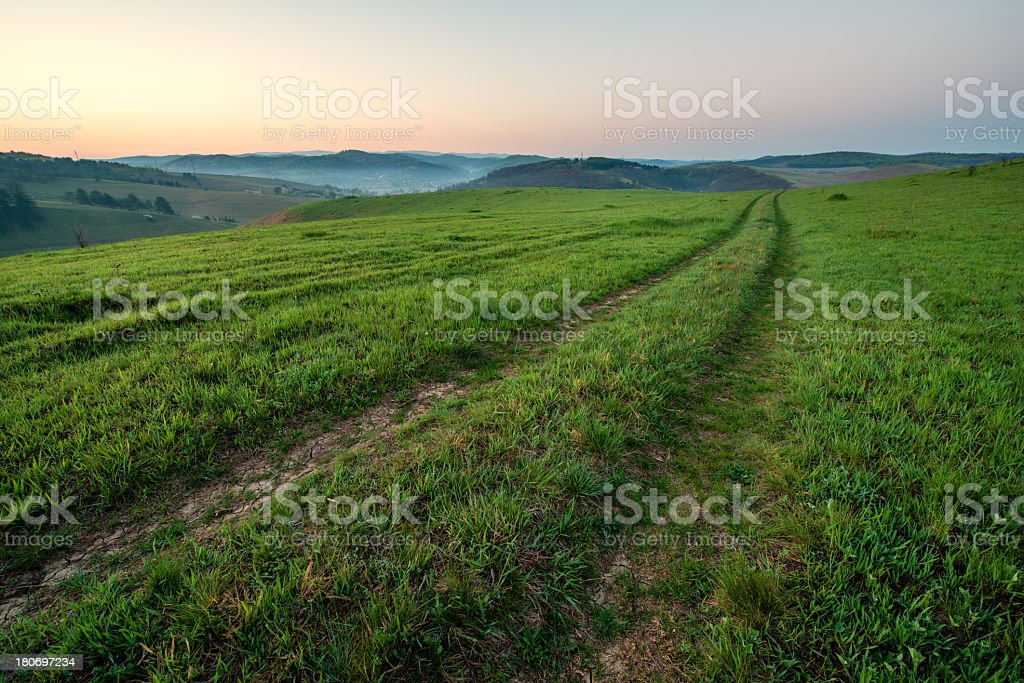 Dawn on the hills royalty-free stock photo