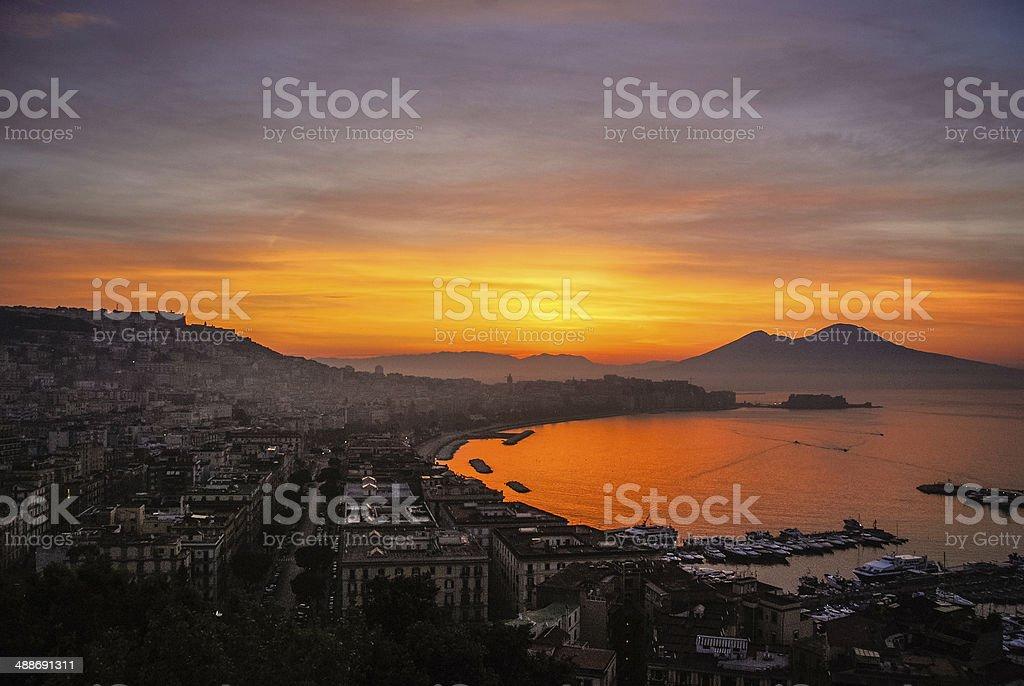 Dawn over Napoli stock photo