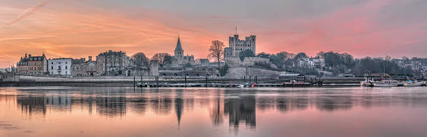 Dawn over Rochester stock photo