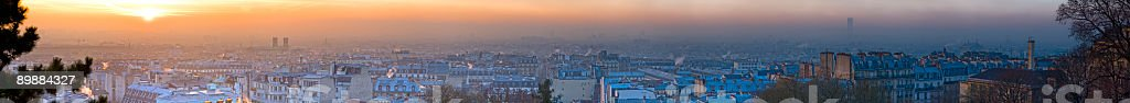Dawn over the rooftops of Paris, France royalty-free stock photo