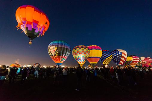 Albuquerque, New Mexico - USA - Oct 10, 2015: Dawn Patrol at the Albuquerque International Balloon Fiesta