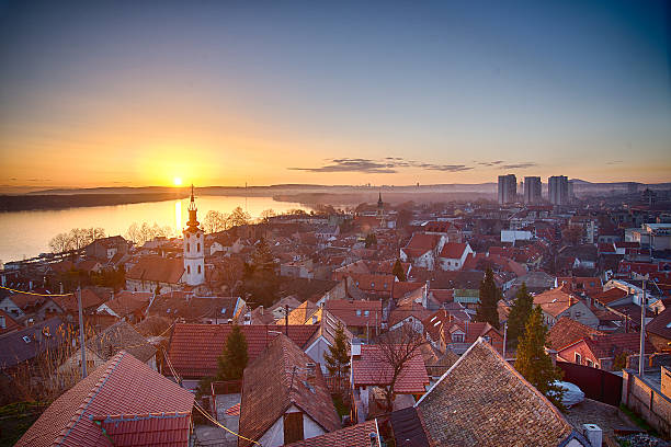 dawn - serbia stock photos and pictures