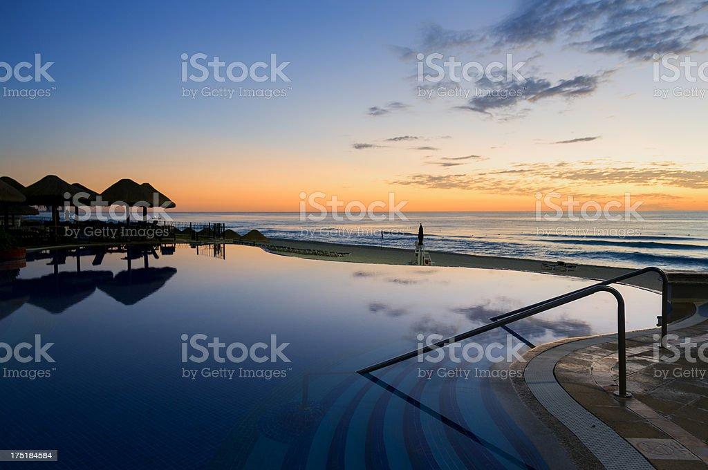 Dawn Pool Bar stock photo