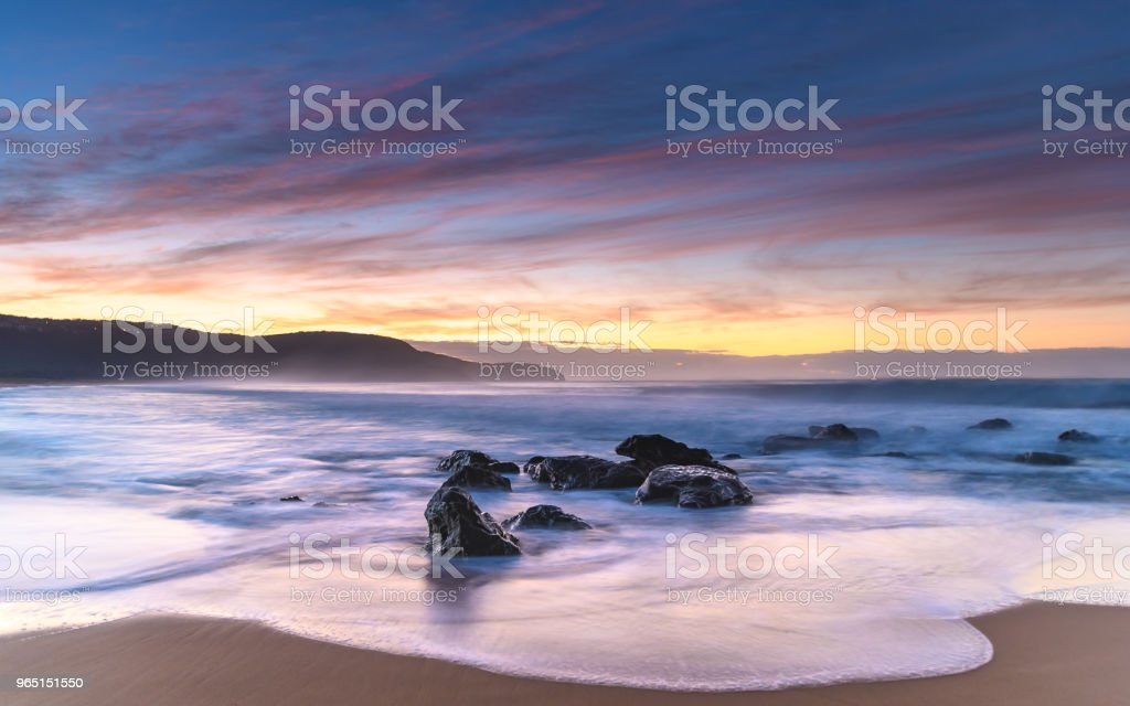 Dawn Seascape from the Beach royalty-free stock photo
