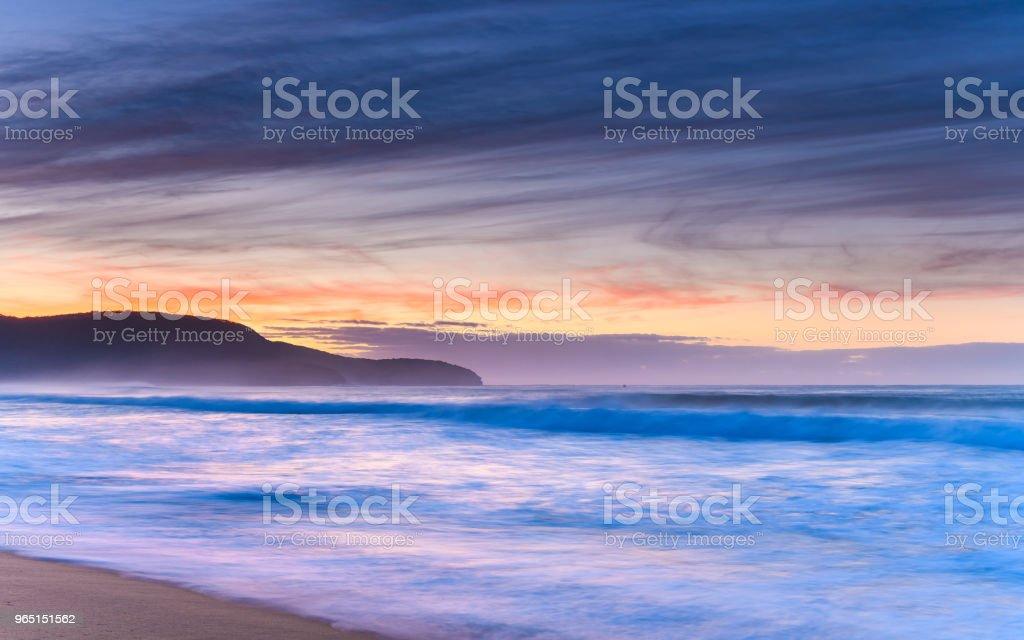 Dawn Seascape from the Beach zbiór zdjęć royalty-free