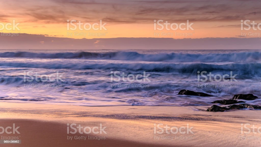 Dawn Waves Seascape royalty-free stock photo