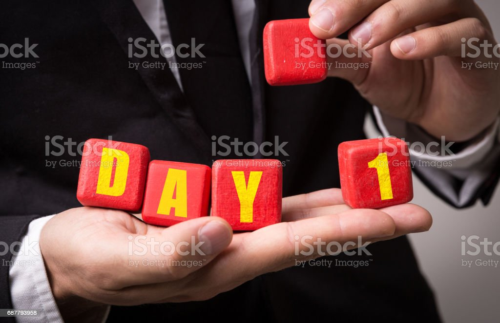 Day 1 stock photo