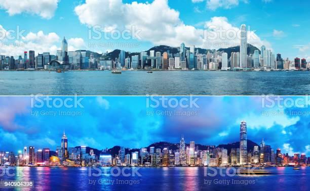 Photo of Day and Night at Hong Kong
