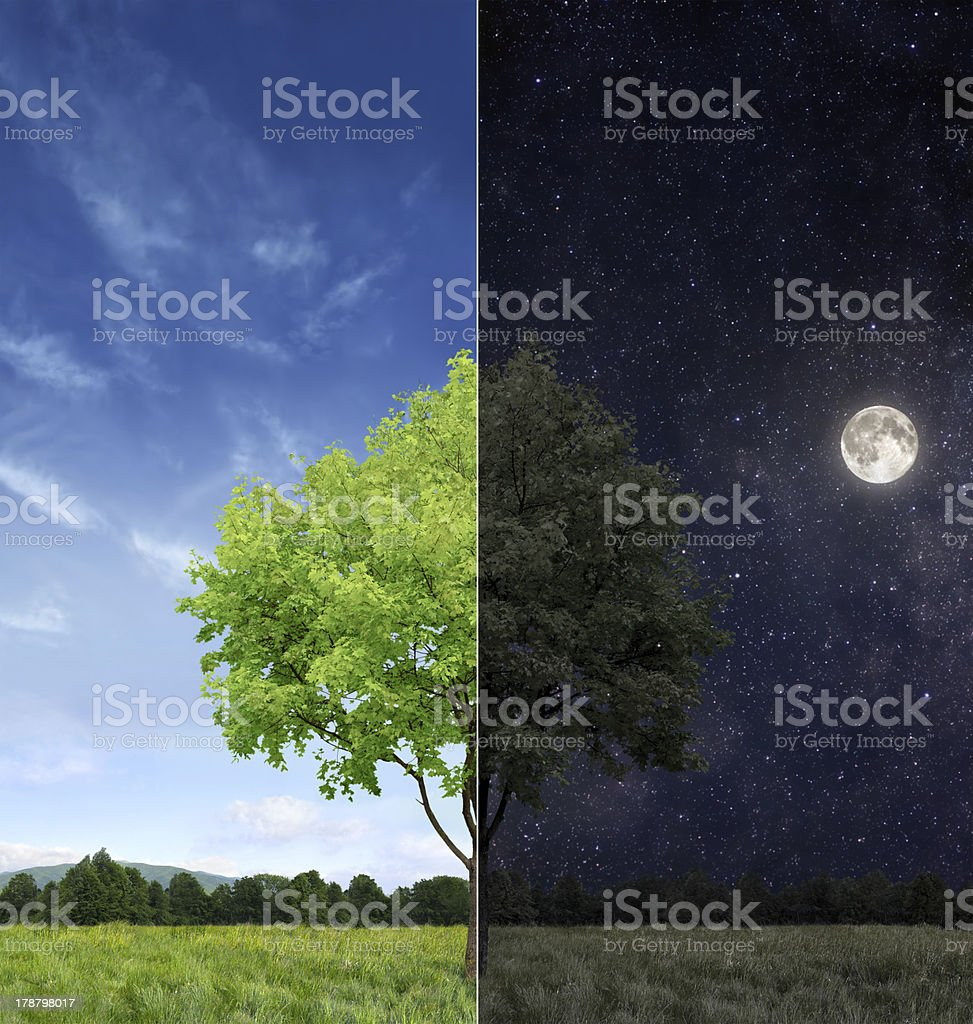Day and night concept stock photo