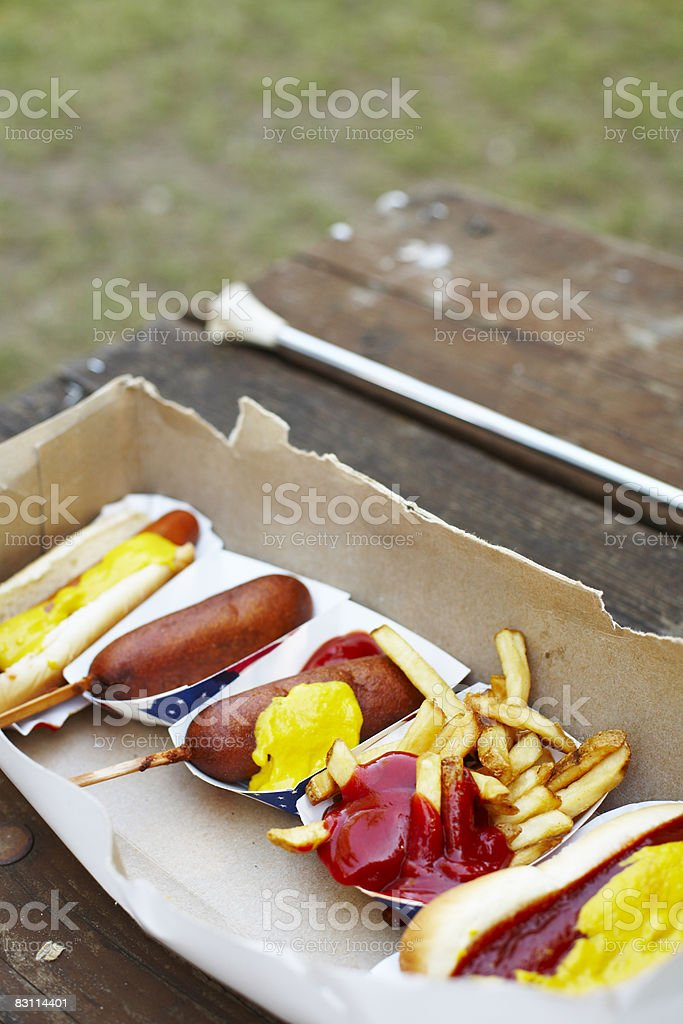 day at an amusement park royalty free stockfoto