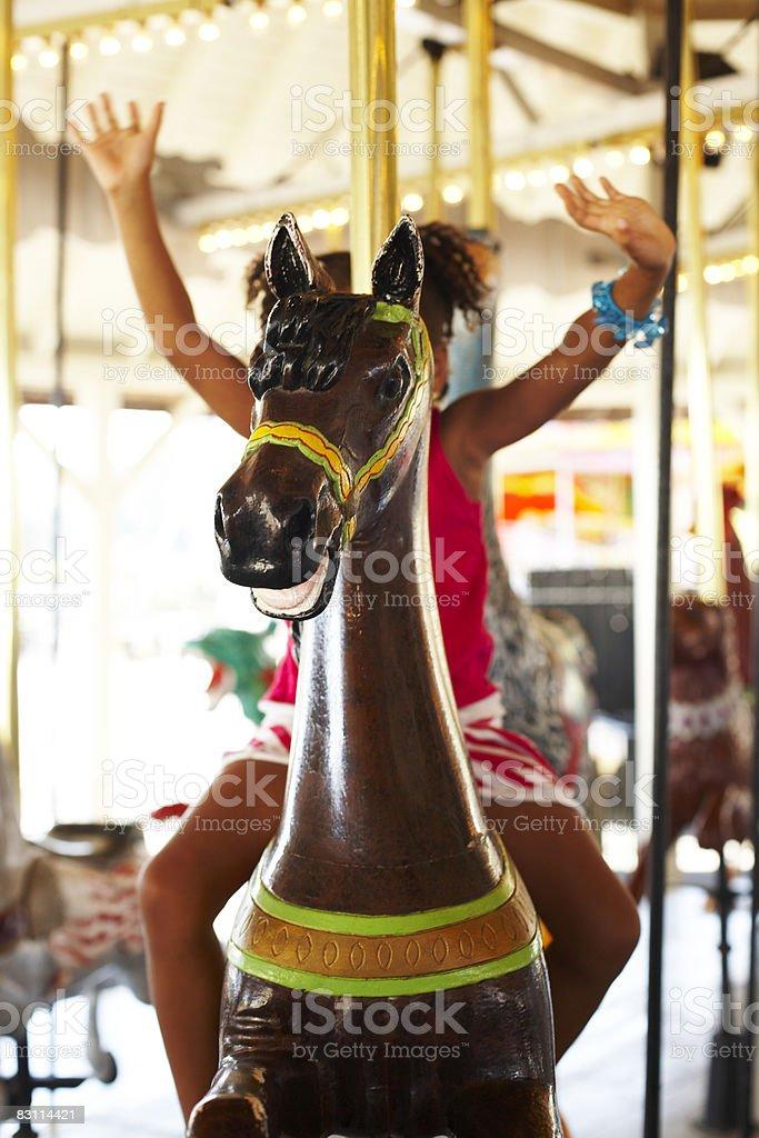 day at an amusement park royaltyfri bildbanksbilder