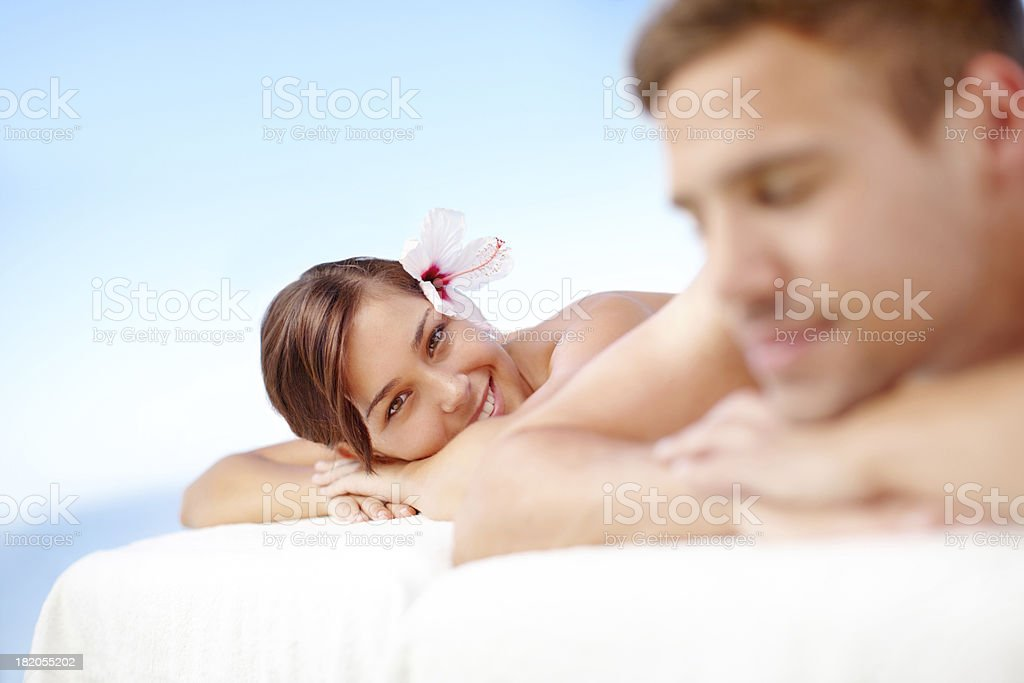 Day at spa with the man I love royalty-free stock photo