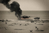 istock WW2 D Day Battle on Omaha Beach 1322584275