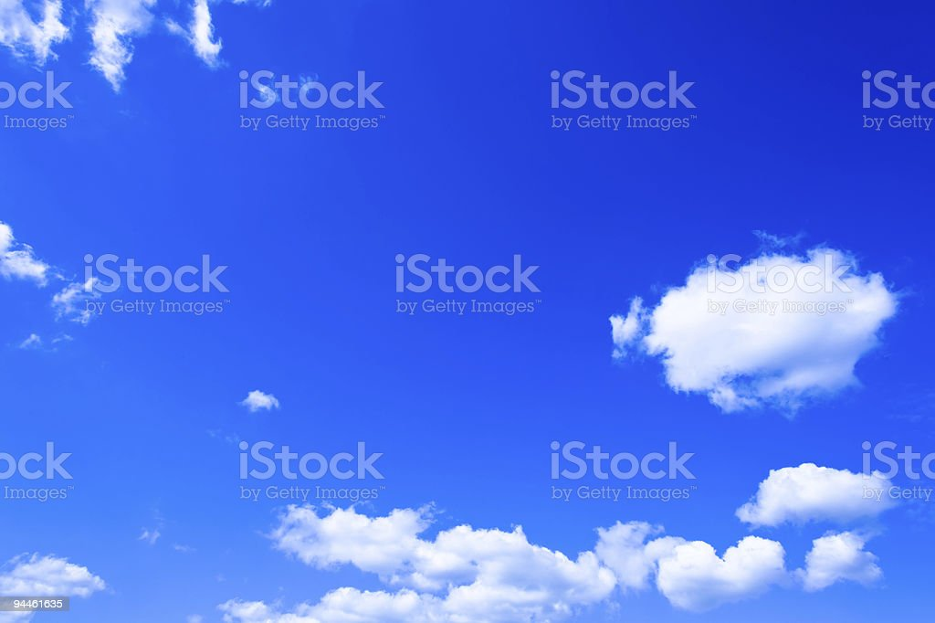 Day blue cloudly sky royalty-free stock photo