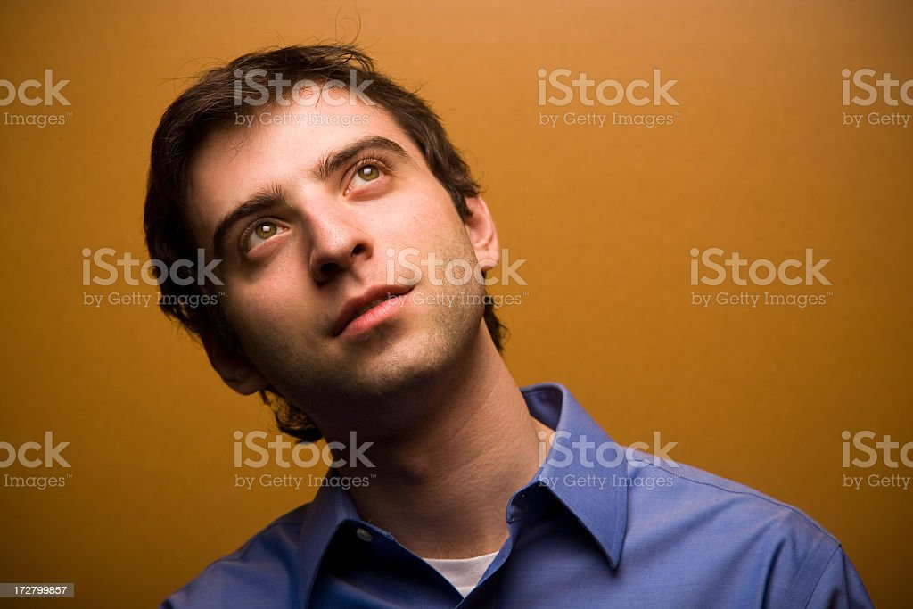 Day Dreaming Man royalty-free stock photo