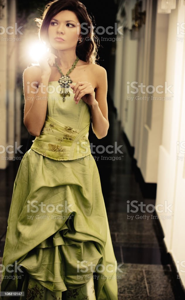 Day Dreaming Woman Portrait royalty-free stock photo