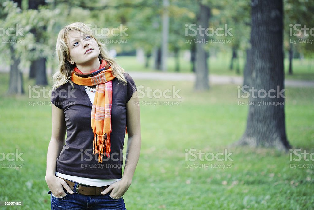 Day Dreaming young woman royalty-free stock photo