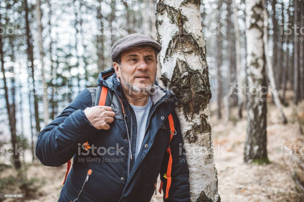 ハイキングの日 - 1人のロイヤリティフリーストックフォト