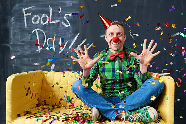 day for mischief - april fools stock photos and pictures