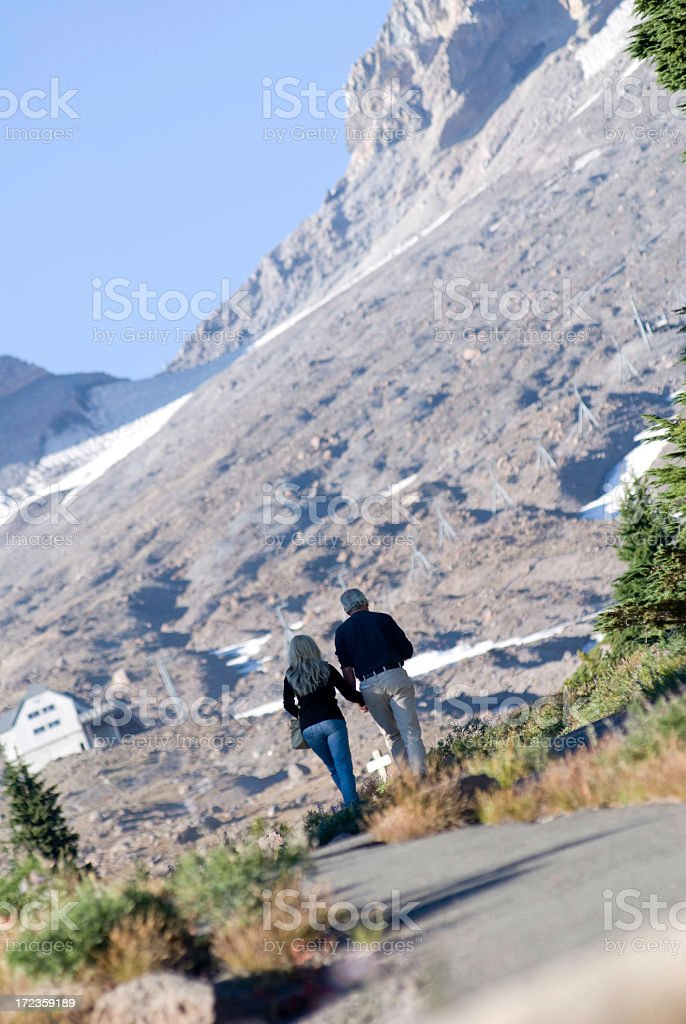 Day Hikers royalty-free stock photo