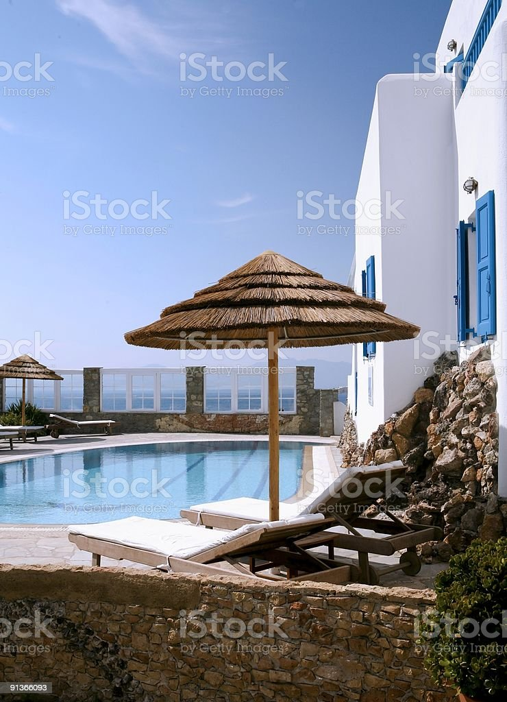 Day in Mikonos royalty-free stock photo