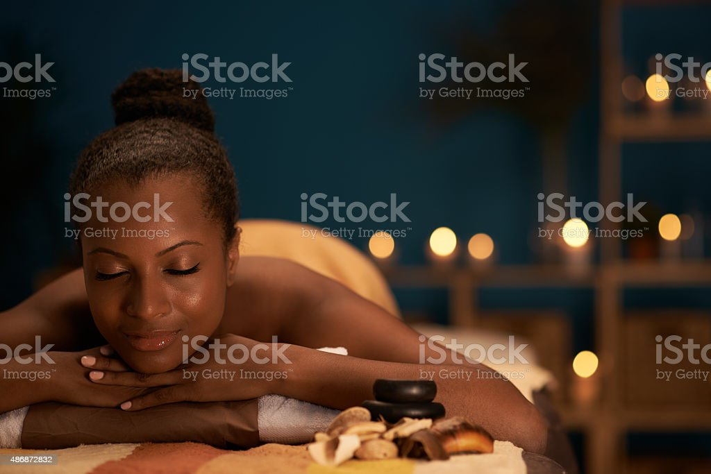 Day in spa salon stock photo