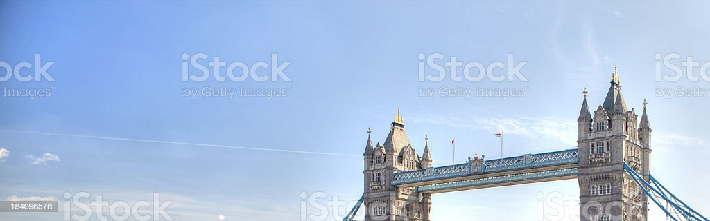 day london clear sky urban scene of tower bridge banner royalty-free stock photo