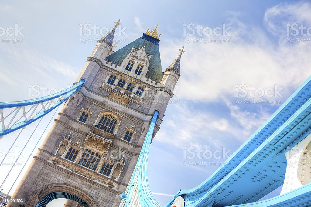 day london clear sky urban scene of tower bridge royalty-free stock photo
