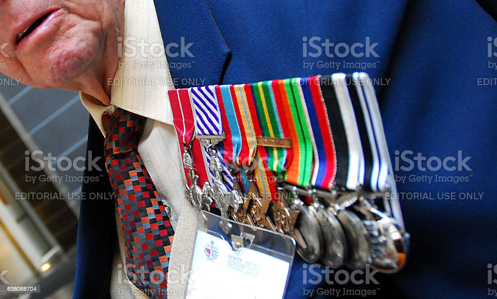 ANZAC Day medals stock photo