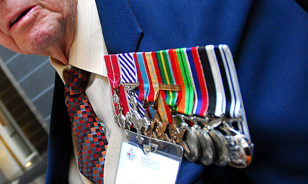 anzac day medals - nzgmw2017 stock pictures, royalty-free photos & images