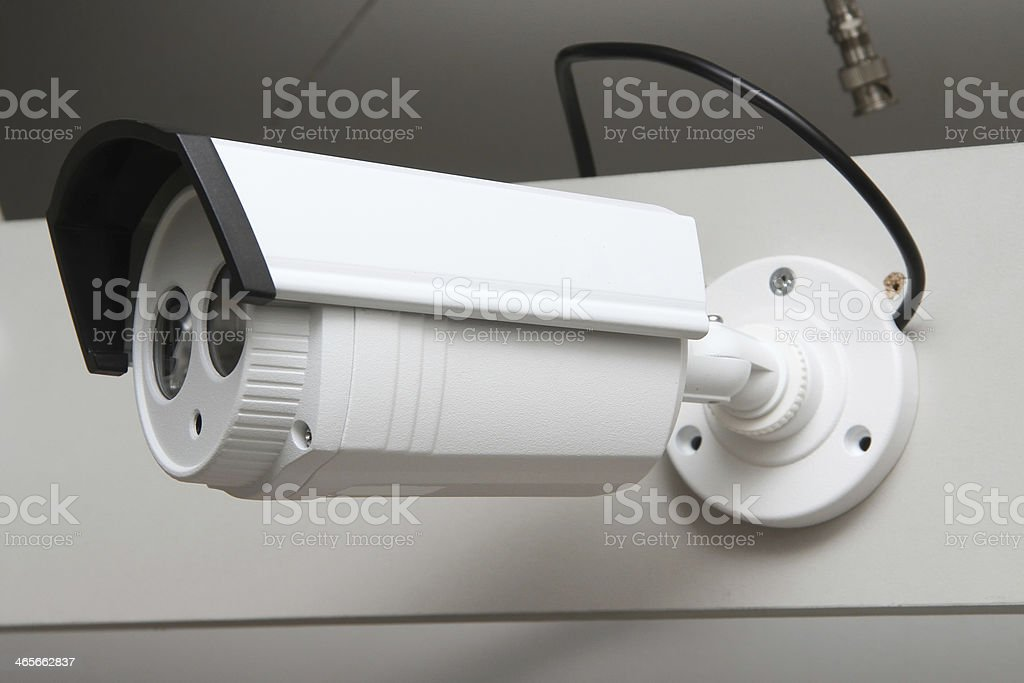 Day & Night Color surveillance camera stock photo